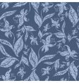 seamless vintage grunge floral pattern with o vector image vector image