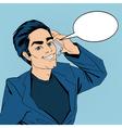 Businessman Talking on the Smart Phone Pop Art vector image vector image