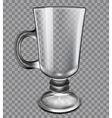 glass cup on a plaid background vector image vector image