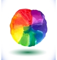 Watercolor rainbow background vector image