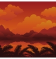 Exotic Seamless Landscape vector image