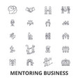 Mentoring business mentor coaching business vector image