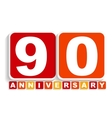 Ninety 90 Years Anniversary Label Sign for your vector image