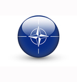 Round icon with flag of NATO vector image