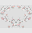 seamless pattern with drawn branches vector image