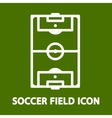 Soccer Field Icon vector image