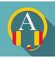 Listening icon flat style vector image