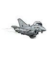 Cartoon Fighter Plane vector image vector image