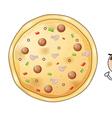 A pizza pie vector image vector image