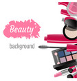 makeup template with collection of makeup vector image