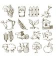 hand draw village vector image vector image