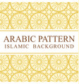 arabic gold pattern background vector image vector image