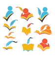 books and education vector image vector image
