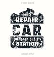 Car repair badge vector image