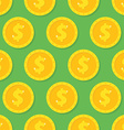 Seamless pattern from Gold dollar coin Background vector image