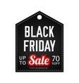 black friday sale design template black vector image
