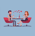 couple on a romantic date vector image