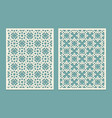 die laser cut panel design with geometric shapes vector image