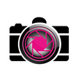 Digital Camera- photography logo vector image
