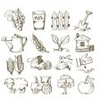 hand draw village vector image