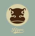 hippo logo vector image