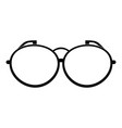 optical eyeglasses icon simple style vector image