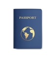 Passport with Map Isolated on White vector image