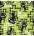 Robot monkey seamless pattern vector image