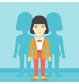 Woman searching for job vector image
