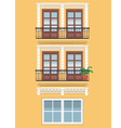 Yellow building vector image