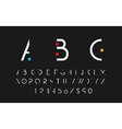 White alphabetic font vector image