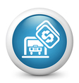 Parking Glossy Icon vector image vector image