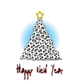 Christmas tree from soccer balls vector image