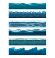 Set of sea backgrounds for mobile games apps vector image vector image