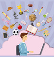 education concept student cartoon style vector image