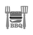 barbecue or bbq grill burger or hot dog sausage vector image