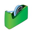 Tape dispenser with adhesive tape vector image