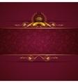 Elegant golden frame banner vector image vector image