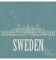 Sweden landmarks Retro styled image vector image