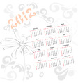 template for calendar 2012 with decorative element vector image
