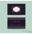 Classic vintage Business card namecard vector image