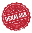 Denmark stamp rubber grunge vector image
