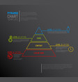 infographic pyramid chart diagram template vector image