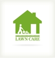 Lawn care symbol vector image