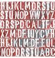letterpress background vector image
