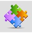 Puzzle pieces vector image