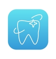 Shining tooth line icon vector image