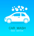 car wash sign logo vector image vector image