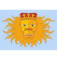 heraldic lions head vector image vector image
