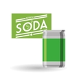 Soda design Drink concept white background vector image